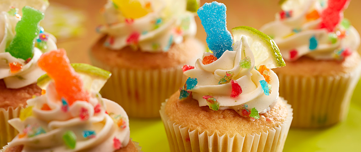 SOUR PATCH KIDS Fiesta Fun Cupcakes